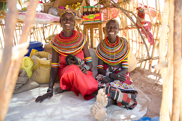 Akeno Nthirgam and Galaho Galmagaleh joined BOMA's poverty graduation program a year ago. With income from their new business, they are putting their children through secondary school in Northern Kenya. Photo for BOMA by India Bulkeley