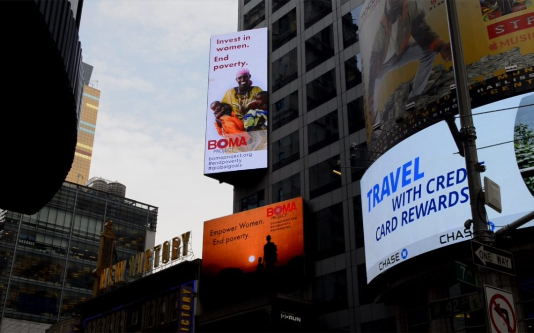 BOMA Project in Times Square for International Poverty Eradication Day