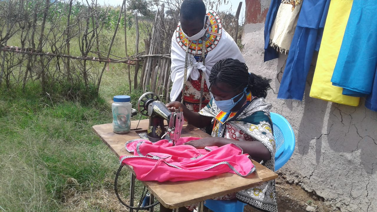 BOMA women entrepreneurs open up a business selling masks for COVID-19